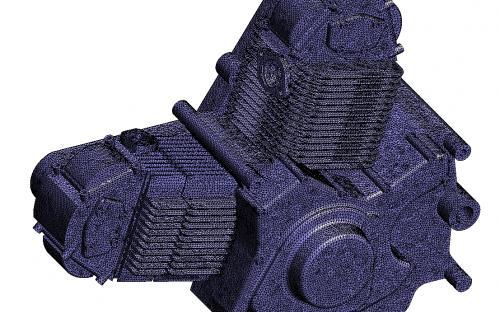 motorbike engine mesh